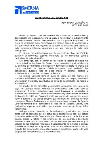 La Reforma del siglo XVI.pdf - Iglesia Presbiteriana Fundamentalista ...