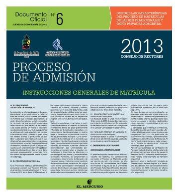 Instrucciones de Matrículas - Demre