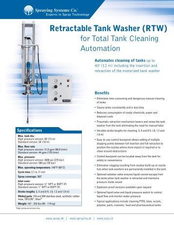 Retractable Tank Washer - Spraying Systems Deutschland GmbH ...