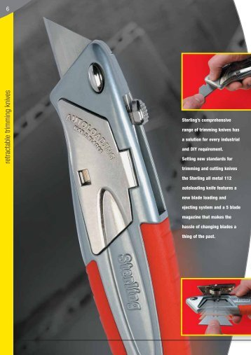 retractable trimming knives - Sheffield Blades