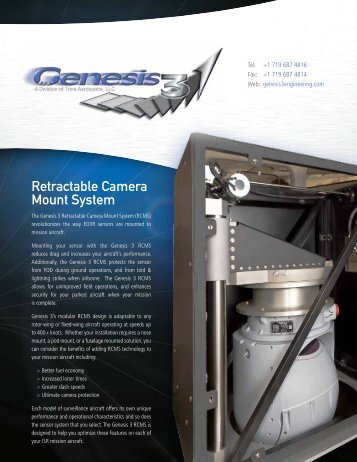 Retractable Camera Mount System - Genesis 3 Engineering