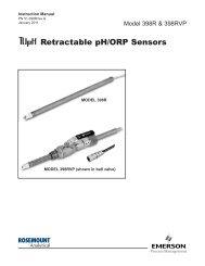 Retractable pH/ORP Sensors - Emerson Process Management