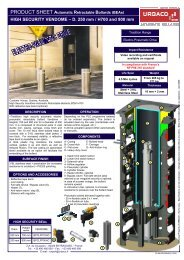 PRODUCT SHEET Automatic Retractable Bollards (BEAs) - Urbaco