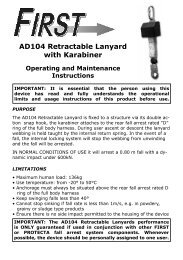 AD104 Retractable Lanyard with Karabiner - Capital Safety