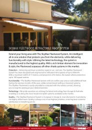 skymax fleetwood retractable roof system - Designer Shade Solutions