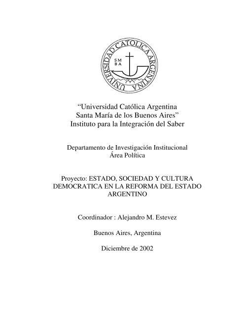 Informe Final De La Investigación Universidad Católica