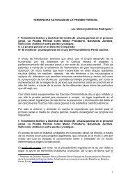 TENDENCIAS ACTUALES DE LA PRUEBA PERICIAL Lic. Osmarys ...