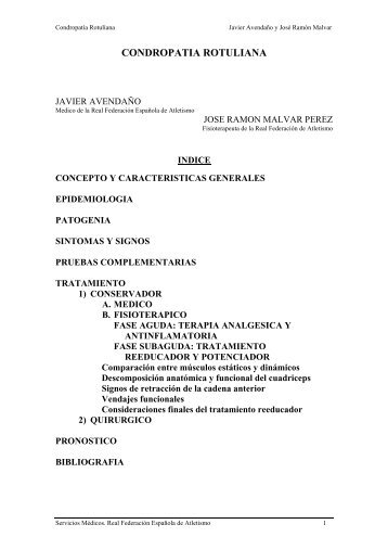Condropatía Rotuliana - JR Malvar - Fisioterapia Deportiva