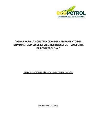 obras para la construccion del campamento del terminal tumaco de ...