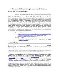 Referencias bibliográficas según las normas de Vancouver - UNIBE