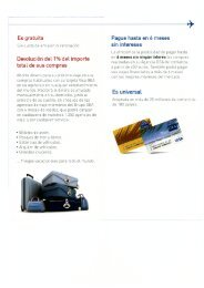 Impreso Solicitud tarjeta VISA GEA - Viajes Diana