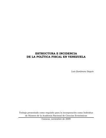 estructura e incidencia de la política fiscal en ... - Web del Profesor
