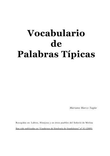 Vocabulario de Palabras Típicas - Por entregas