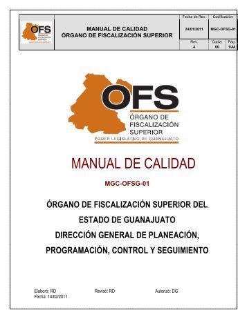 MANUAL DE CALIDAD - Órgano de Fiscalización Superior del ...