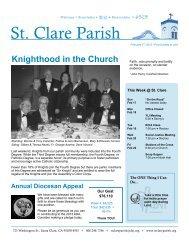 Sunday, February 17, 2013 - St. Clare Parish