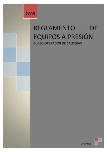 REGLAMENTO DE EQUIPOS A PRESIÓN - repara tu mismo