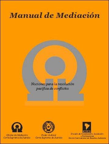 Manual de Mediación - Poder Judicial