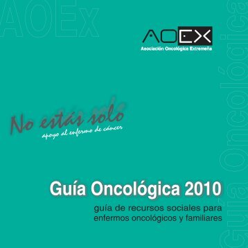 No estás solo - Asociación Oncológica Extremeña