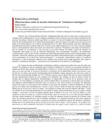 simulacro ontológico - EIKASIA - Revista de Filosofía