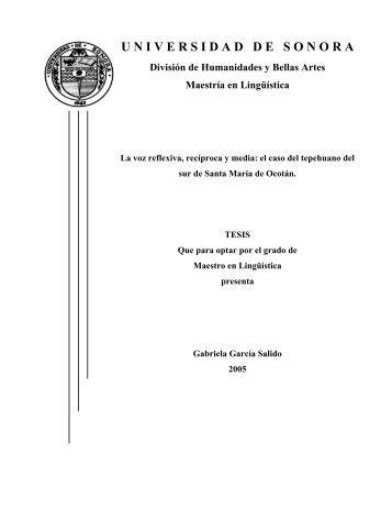9Tggs - Maestría en Lingüística - Universidad de Sonora