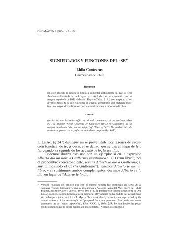 """Significados y funciones del """"se"""" - Onomázein"""