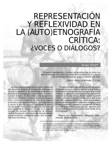 representación y reflexividad en la (auto)etnografía crítica - Dialnet