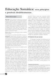 Educação Somática - revista teatro e dança UFBA