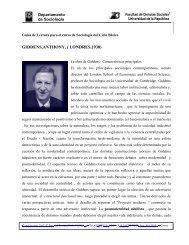 Anthony Giddens - Facultad de Ciencias Sociales - Uruguay