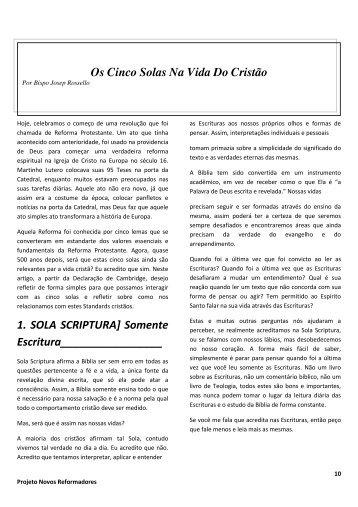Revista Novos Reformadores - Igreja Anglicana Reformada do Brasil