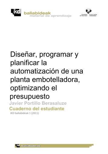 Diseñar, programar y planificar la automatización de una planta ...