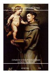 BOLETIN INFORMATIVO - Cofradía de la Orden Franciscana Seglar ...