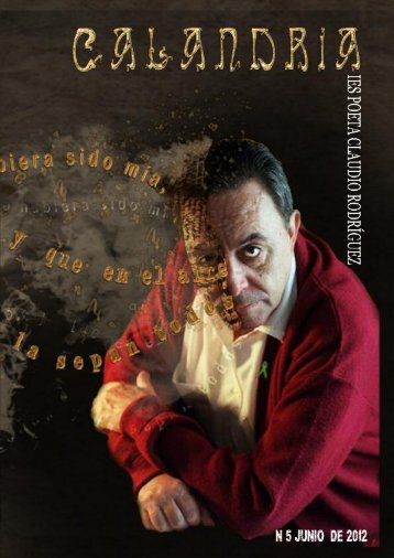 "CALANDRIA 2012 - ies ""poeta claudio rodríguez"""