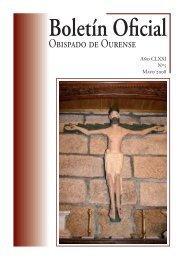 Boletín Oficial del Obispado de Ourense - Mayo 2008 - Diocese de ...