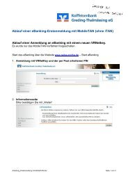 Erstanmeldung in eBanking