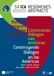 Additional Abstracts - 54 international congress of americanists