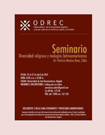 Programa Seminario de diversidad religiosa - Blog UCC