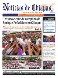Exitoso cierre de campaña de Enrique Peña Nieto en Chiapas