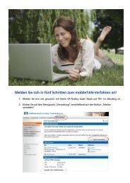 Melden Sie sich in fünf Schritten zum mobileTAN-Verfahren an!