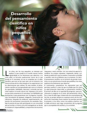 Desarrollo del pensamiento científico en niños pequeños