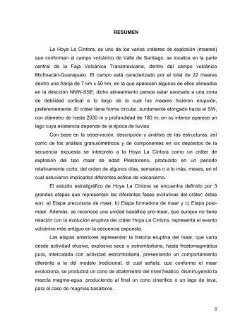 Resumen - Centro de Geociencias ::.. UNAM