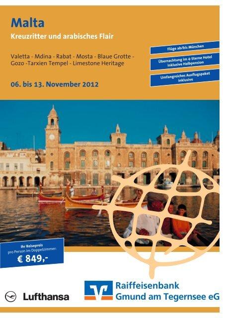 Flyer mit allen Details zur Reise - Raiffeisenbank Gmund a ...