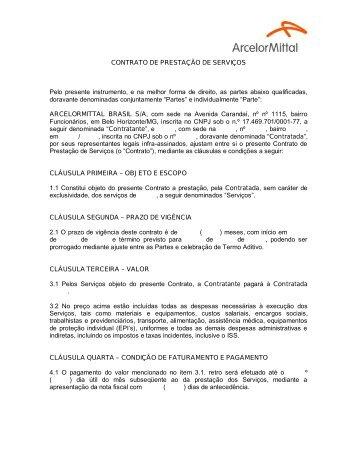 CONTRATO DE PRESTAÇÃO DE SERVIÇOS Pelo ... - Aperam