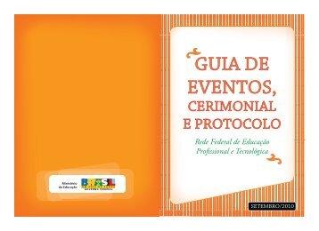 Guia de Eventos, Cerimonial e Protocolo