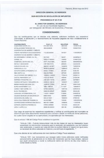 providencia 201-p-09 - Dirección General de Ingresos