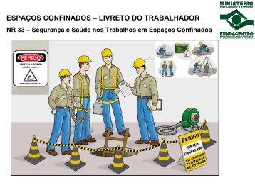 Espaços confinados: livreto do trabalhador - Fundacentro