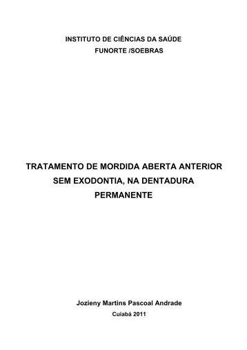 tratamento de mordida aberta anterior sem exodontia, na ... - Funorte