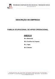 Descrição de Emprego - Apoio Operacional