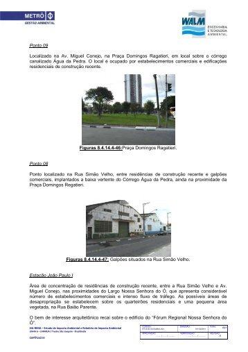 8.4.14 Patrimônios Histórico, Cultural Arqueol D - Metrô