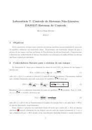 Laboratório 7: Controle de Sistemas N˜ao-Lineares DAS5317 ...