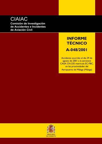 Informe final - Ministerio de Fomento